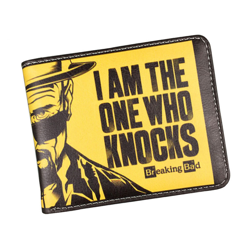 Classic American Cartoon Movie Wallet Breaking Bad Funny Wallet Men's Purses With Zipper Coin Pocket Card Holder Student Wallet pu white zero wallet american movie captain amrerica coin purse with interior zipper pocket