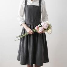 Aprons Uniform Coffee-Shop Kitchen Cooking-Gardening Adult Unisex Cotton Woman Lady's