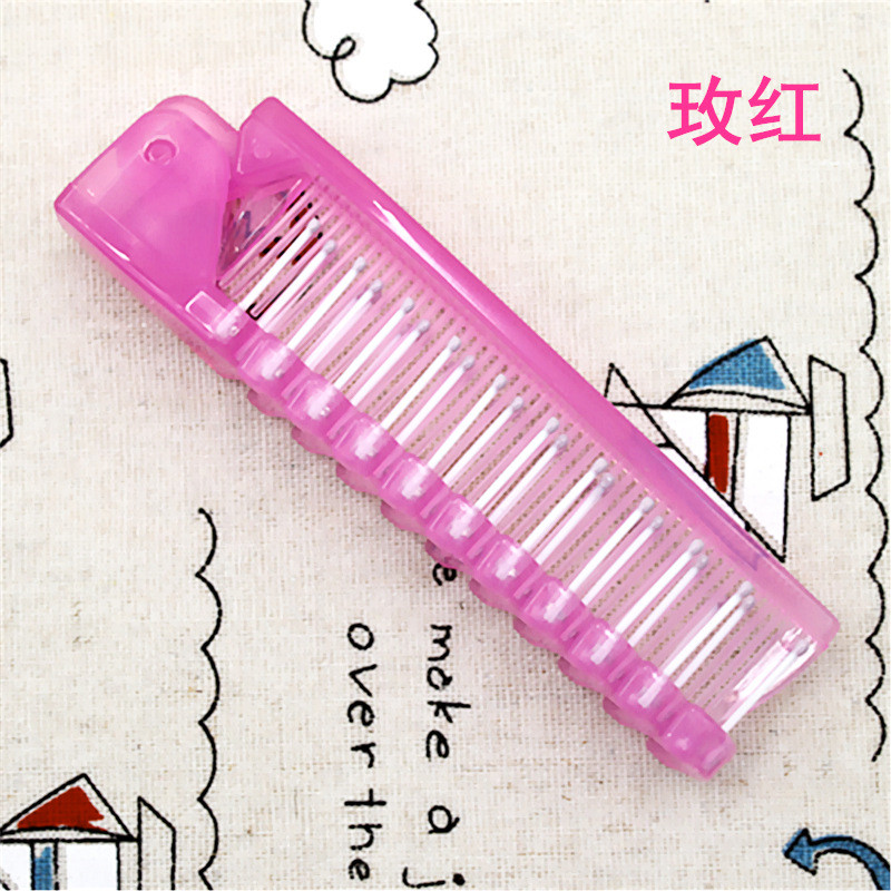 Image 4 - 1 Pcs Disposable Travel Hair Comb Brush Foldable Massage Anti Static Portable Folding Hair Comb Hairdressing Styling Tool-in Combs from Beauty & Health