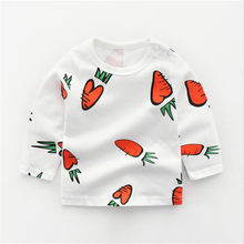 Baby Tees Tops Animals T shirts Kids T shirt Boys Girls Cotton Clothes Animals Kids Boys New Design Children Girl Top(China)