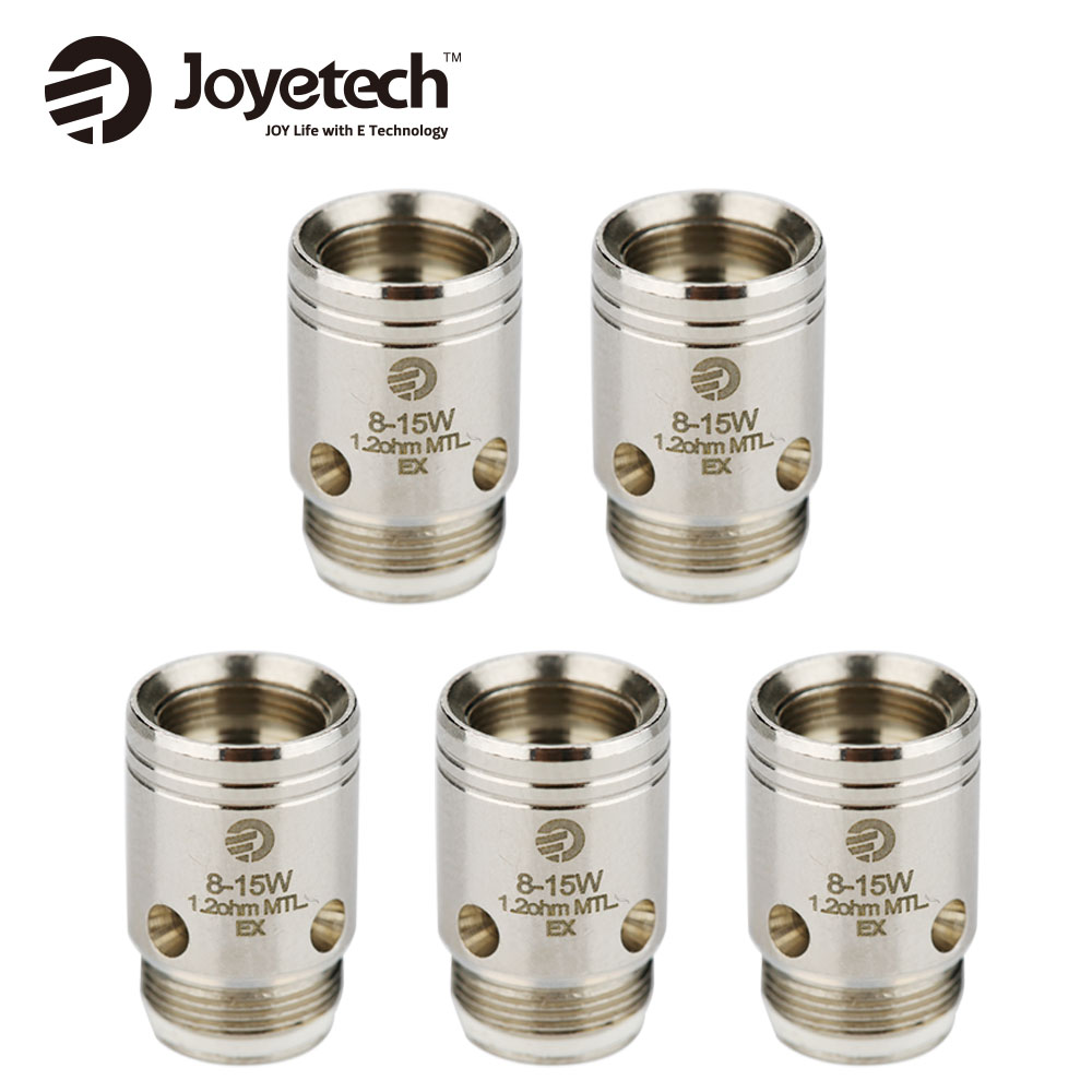Original 5pcs Joyetech EX Coil Head for Exceed Series Atomizers 1.2ohm Coil & 0.5ohm Coil Pare Part for Exceed Tank Vape Coil
