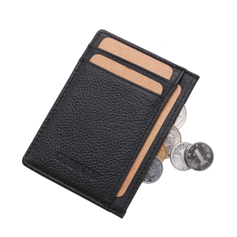 100% Genuine Leather Small Mini Ultra-thin Wallets Men Women Compact Handmade Wallet Cowhide Card Holder Coin Purse 115# treafury genuine leather small mini ultra thin wallets men compact wallet handmade wallet cowhide card holder short design purse