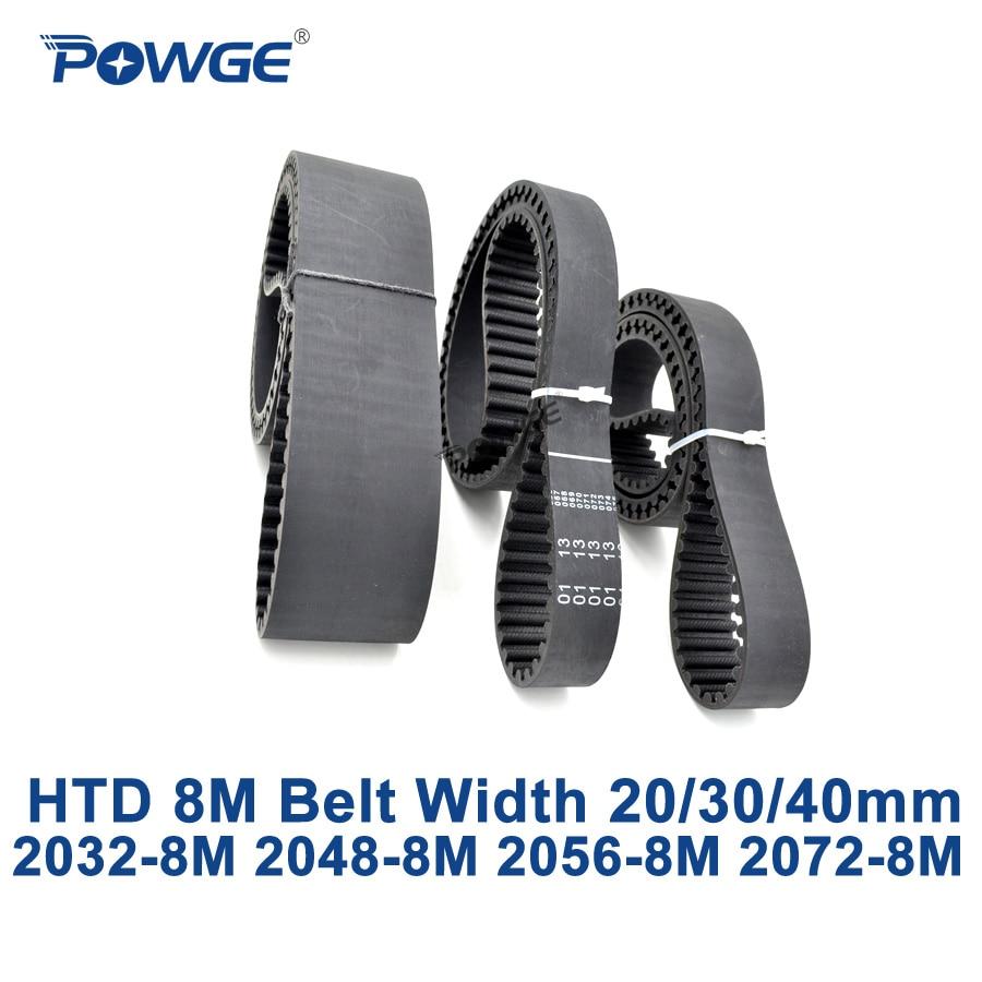 POWGE HTD 8M synchronous Timing belt C=2032/2048/2056/2072 width 20/30/40mm Teeth 254 256 257 259 HTD8M 2032-8M 2056-8M 2072-8MPOWGE HTD 8M synchronous Timing belt C=2032/2048/2056/2072 width 20/30/40mm Teeth 254 256 257 259 HTD8M 2032-8M 2056-8M 2072-8M
