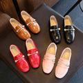 2017 spring child leather single shoes female fashionable princess child casual shoes male Moccasins child casual shoes