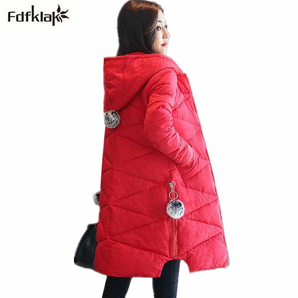 Fashion new winter jacket women slim long cotton coat winter parka female outerwear jacket hooded big yards ladies coats 3XL muxu new autumn winter coat women basic jacket coat female slim hooded cotton coats casual silver long sleeve ladies jackets