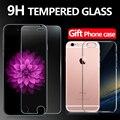 Prêmio de vidro temperado protetor de tela para iphone 6 6 s 4.7 ''tela protetor de filme de vidro de vidro para iphone6 + 1 caso não borda da tampa