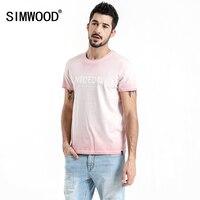SIMWOOD 2018 Summer New T Shirt Men Fashion Vintage Slim Fit Tshirt High Quality Letter Print