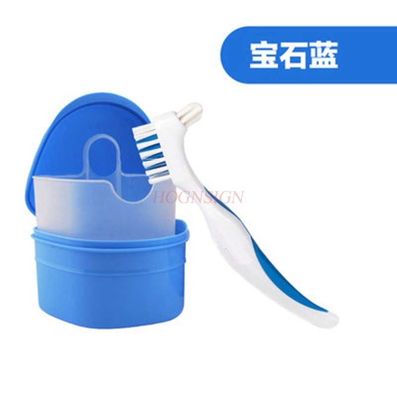 Denture box tooth toothbrush carrying storage box invisible braces correcting storage box holder box image