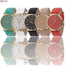 Retro Geneva Simple Leather Strap Ladies Quartz Watch Relojes Hombre 2017 Women Watches Bayan Saat Megir Clock Hodinky Uhren B96
