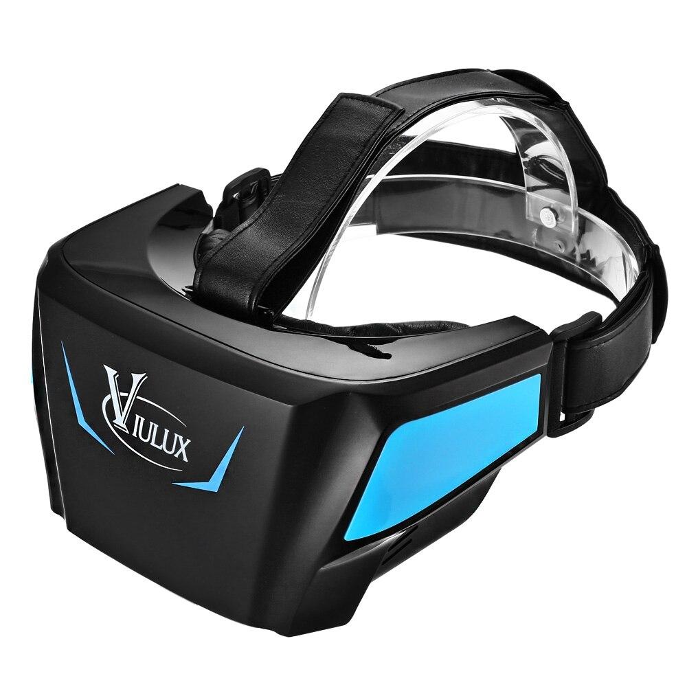 """VIULUX V1 <font><b>VR</b></font> <font><b>Headset</b></font> <font><b>VR</b></font> Box <font><b>Virtual</b></font> <font><b>Reality</b></font> <font><b>Glasses</b></font> 3D Game Movie 1080P 5.5"""" OLED <font><b>Display</b></font> Screen HDMI USB for Computer Notebook"""