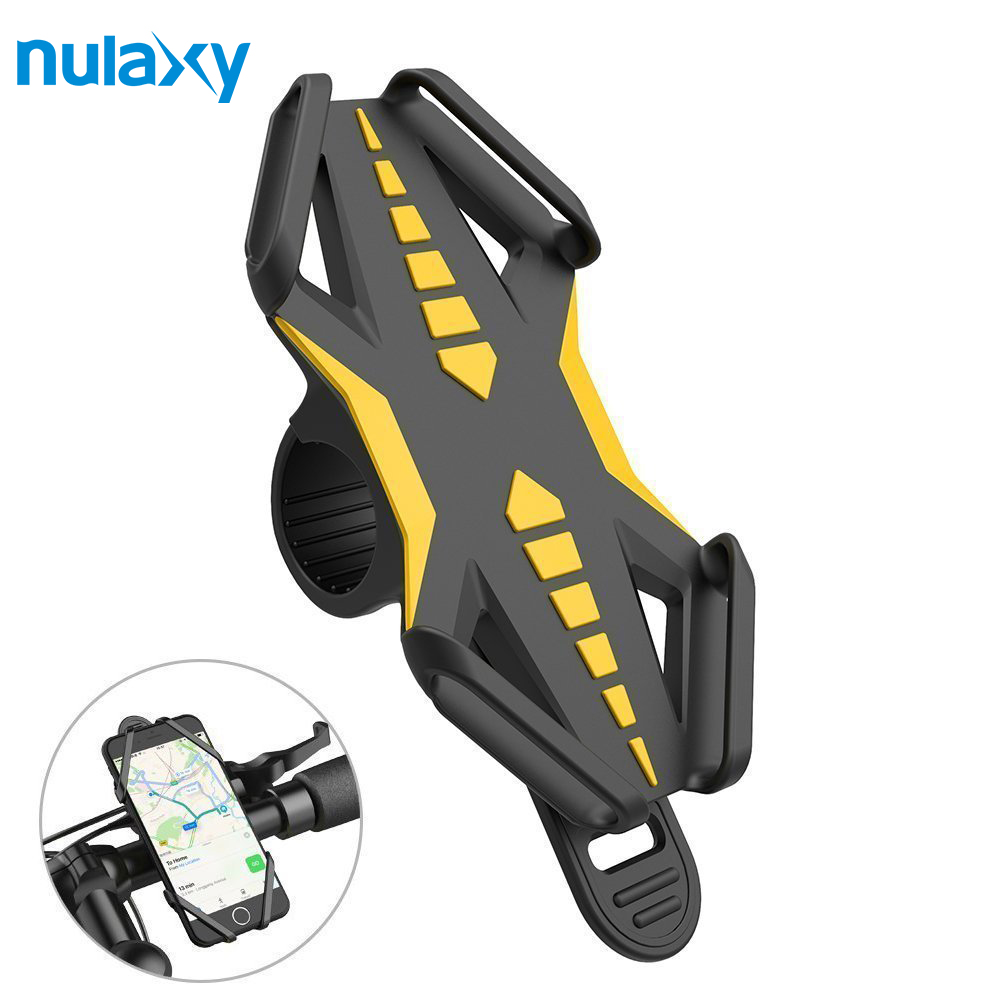 Nulaxy Silicone Phone Holder Anti-Slip Bicycle Holder For Mobile Phone Bike Motorcycle Handlebar MTB Phone Holder Stand Mount