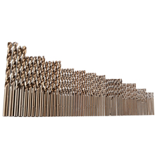 74pcs/set 1mm-8mm Cobalt High Speed Steel Twist Drill Bits Hole M35 Stainless Steel Tool Set The Whole Ground Metal Reamer Tools цены