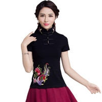 Fashion Spring Summer Women 5XL T Shirt Embroidery Brand Blusas Feminina Ladies Cotton Tops Tee Clothes