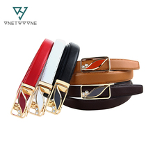 Classic Brand Designer Luxury Belts For Women Auto Alloy Buckle Belt Yong Lady Girls Best Match Real Leather 2017 New Type