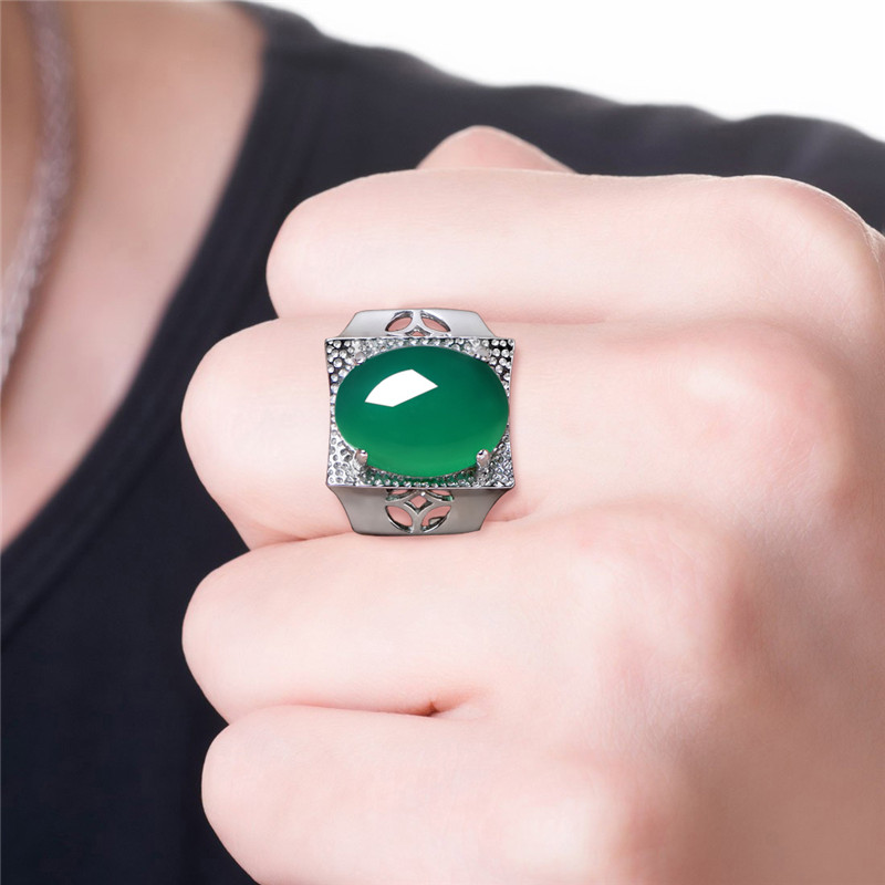 2019 Sale Special Offer Boys Ring Anel Anel Masculino S925 Chalcedony Male Dominee Opening Forefinger Insensitivity 2019 Sale Special Offer Boys Ring Anel Anel Masculino S925 Chalcedony Male Dominee Opening Forefinger Insensitivity