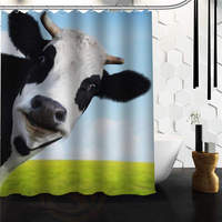 Free Shipping COW Curtain Bath Curtain High Quality Of Shower Curtain Print 48 X 72 60