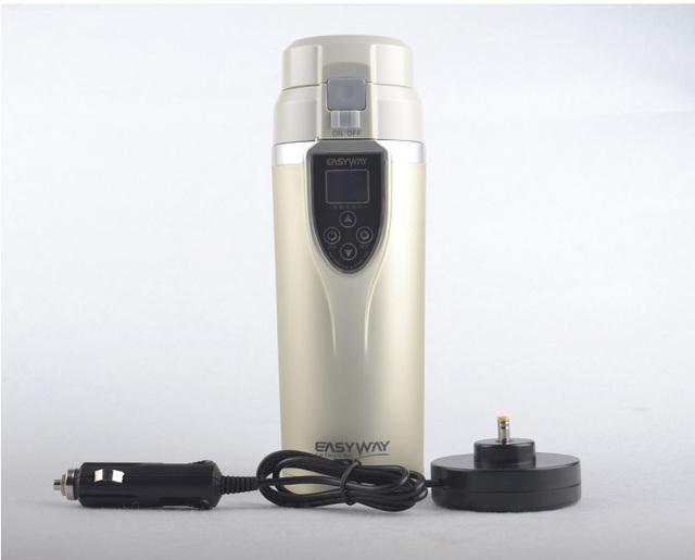 Auto taza Eléctrica de Mantener Caliente el Agua Boling con Coche Termo y Encendedor de Cigarrillos Del Vehículo adaptador DC12V Calefacción Taza de Viaje taza