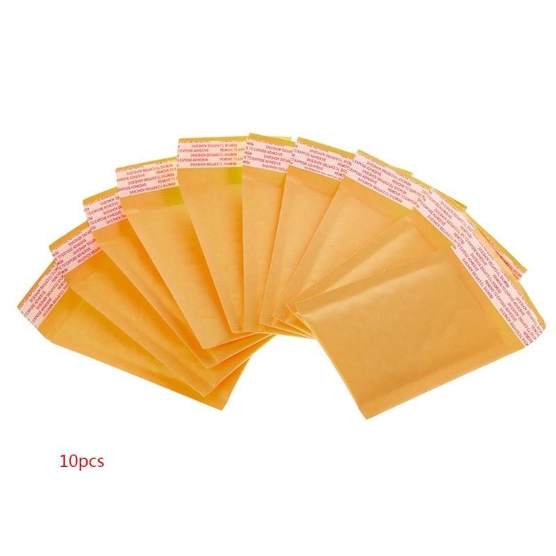 1 Beutel X Versandtaschen Mail Empfang 10 Stücke Kraft Sprudeln Werbungen Gelb Gepolsterte Versandtaschen Versand Umschläge Ausgezeichnet Im Kisseneffekt