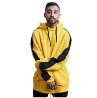 Brand Hoodies Men Side Striped Thick Hood High Street Pullover Cotton Fashion Hip Hop Streetwear Casual