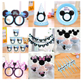 Mickey mouse kids birthday party supplies Minnie mouse party decoration sets paper garland plates cups baby shower supplies