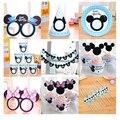 Mickey mouse niños suministros fiesta de cumpleaños de Minnie mouse party decoración establece tazas de placas de papel guirnalda suministros de baby shower