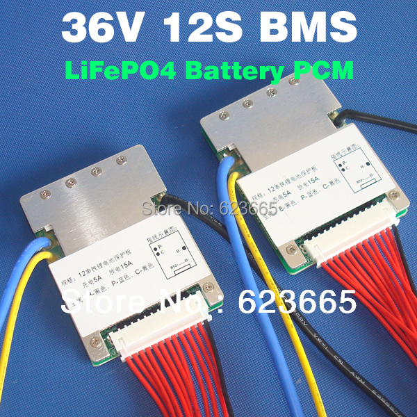 12S 36V 15A lifepo4 pil BMS elektrikli bisiklet için kullanılan 36V 8Ah 10Ah 12Ah 15Ah LiFePO4 pil paketi ile denge fonksiyonu ile