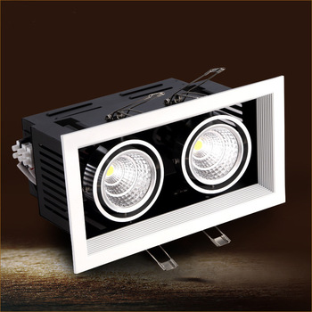 led cob lamp 24w  led bean pot lamp double slider 360 adjustable 24w led ceiling spotlight grille lamp  AC 85-265V