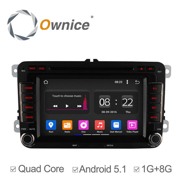 Ownice C180 Quad Core Android 5.1 Car DVD GPS Navigation Radio Player For VW Golf Polo Bora CC Jetta Passat Tiguan Skoda Caddy