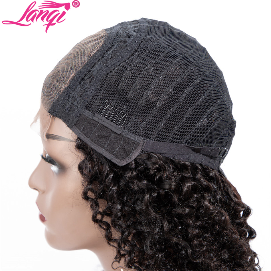 lanqi hair kinky curly 4×4 lace closure wig lace front curly human hair wigs for black women brazilian lace front wigs closure wig