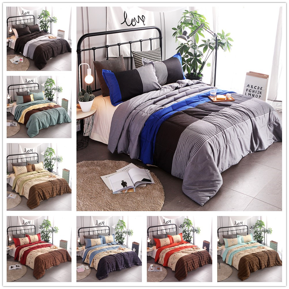 Quilt Sets Us 23 92 20 Off 3 Piece Striped Quilt Set Boys Bedspreads Coverlet Sets Comforter Sets Queen In Bedding Sets From Home Garden On Aliexpress