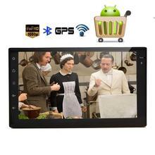 Android 6.0 car GPS estéreo con 2DIN unidad principal en el tablero GPS navegación Radios audio soporte 1080 p vídeo obd2 wifi mirrorlink SWC