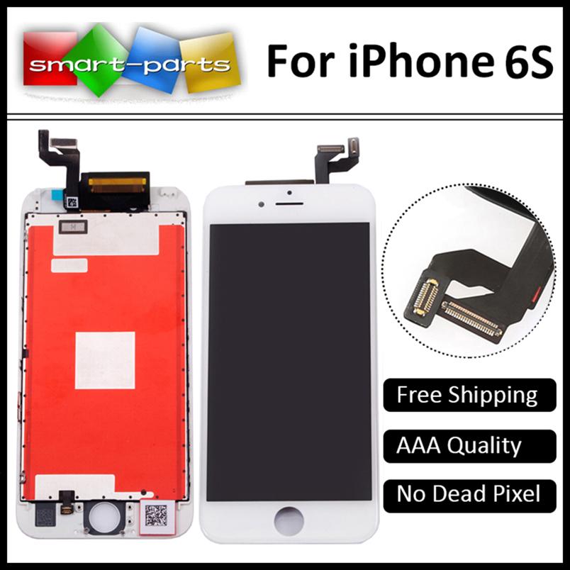 Prix pour 10 pcs/lot aaa qualité lcd sans pixel mort affichage pour iphone 6s écran de remplacement avec tactile digitizer assemblée libre de dhl