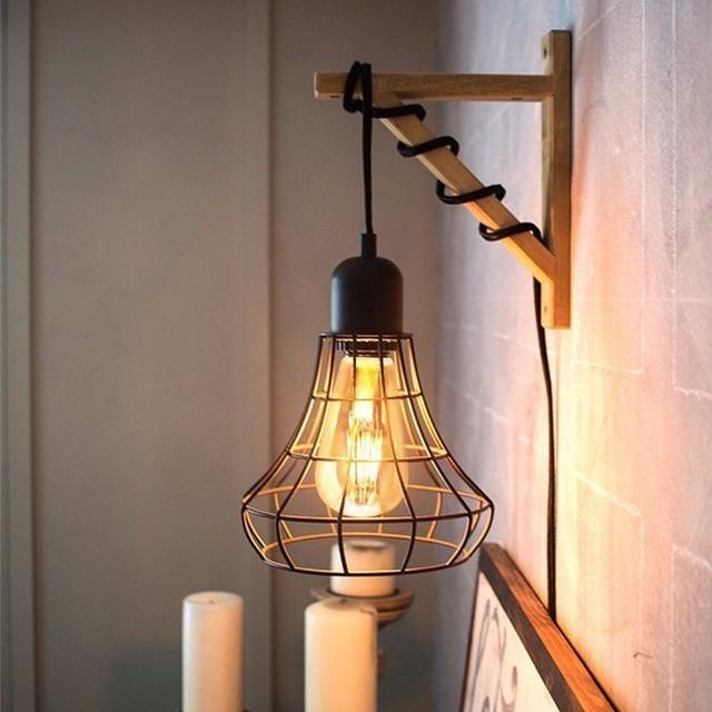 Dimmable Vintage Edison LED Light Bulb E27 B22 ST64 4W Cage Retro Filament LED Light Lamp Bulb 220V Warm White LED Ligthing