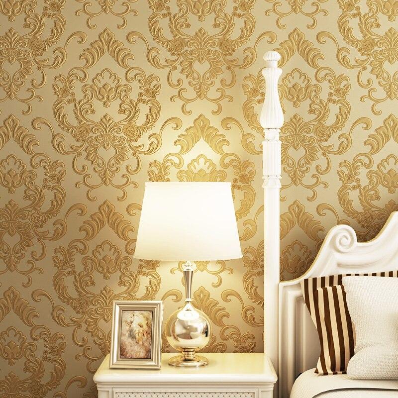 Damask Style Bedroom: Aliexpress.com : Buy 3d Papel De Parede European Style