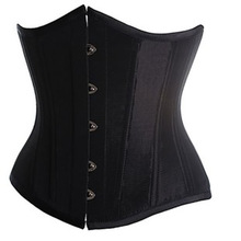 Underbust Black White Red Satin Corset Waist corselet Cincher Body s Shaper steampunk clothing bustier korsett