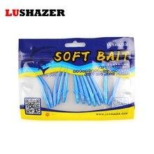 LUSHAZER 14pcs/lot soft fishing lure 1g 3g carp fishing iscas artificiais soft baits silicone bait bass lures worm soft lure
