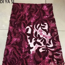 DI YA SI LACE Net French Lace Material High Quality African Fabric With Stone Nigerian Wedding