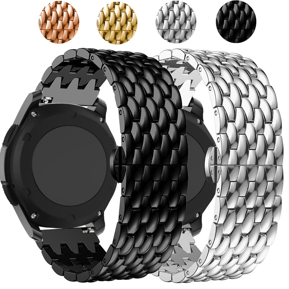 For HUAWEI WATCH GT GT2 Stainless Steel Band Strap Alloy Metal Replacement Watch Band Dragon Scale Bracelet Wristband 22mm
