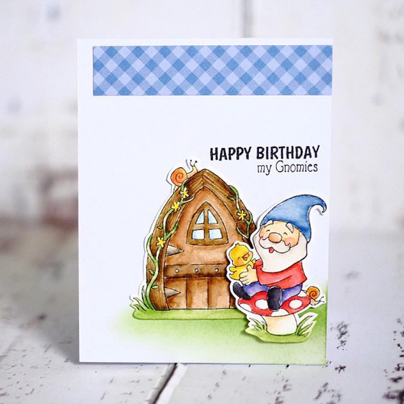 Dwarfs And House Clear Stamp DIY Scrapbooking Silicone Embossing Stencil Decoration Handicraft Paper Card Album Making Template