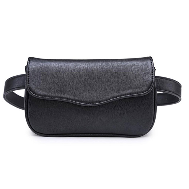 Hot Sale High Quality Pu Leather Waist Packs women Belt Bag Portable  Women's Waist Bags 2017 Free Shipping