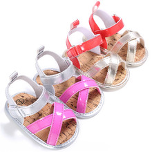 Colorful Baby Girl Leather Sandal Clogs Shoes Infant Summer Shoes Newborn Princess Shoes Infant Soft Sole Shoes 0-18M
