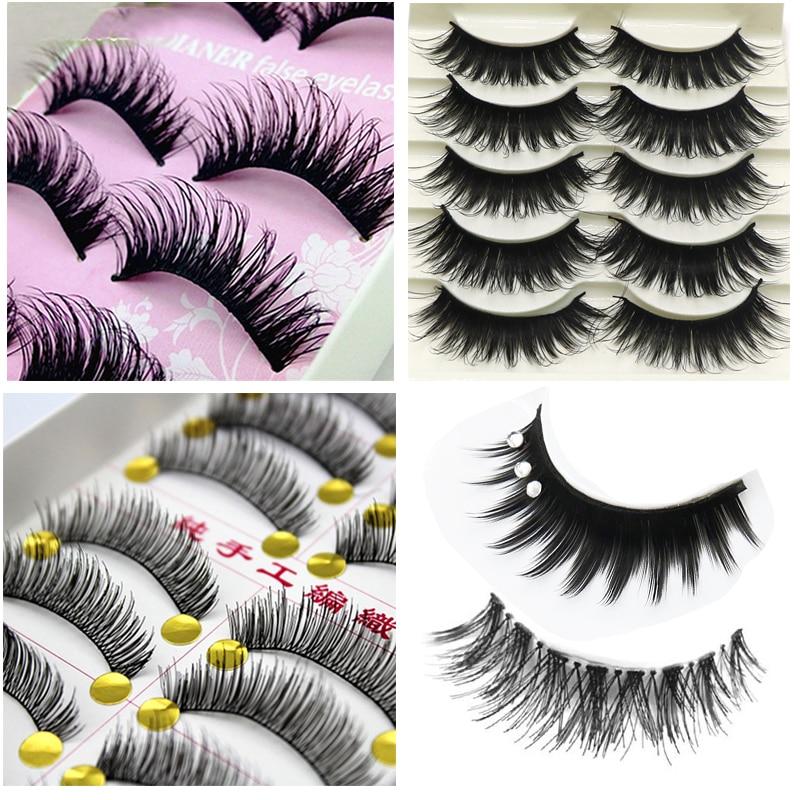 False Eyelashes 10 Pair Long False Eyelashes Makeup Natural Fake Thick Black Eye Lashes Cosmetic Tools Keep You Fit All The Time