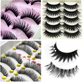 5/10 Pair Crisscross False Eyelashes Lashes for Building Makeup Tips Long Thick Fake Eyelashes Extensions Tool False Eyelashes