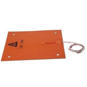 Image 1 - 750w 220v 31*31 cm 3D מדפסת חלקים ואבזרים סיליקון מחומם מיטה כתום צבע חימום Pad עבור CR 10 3D מדפסת מיטת חורים