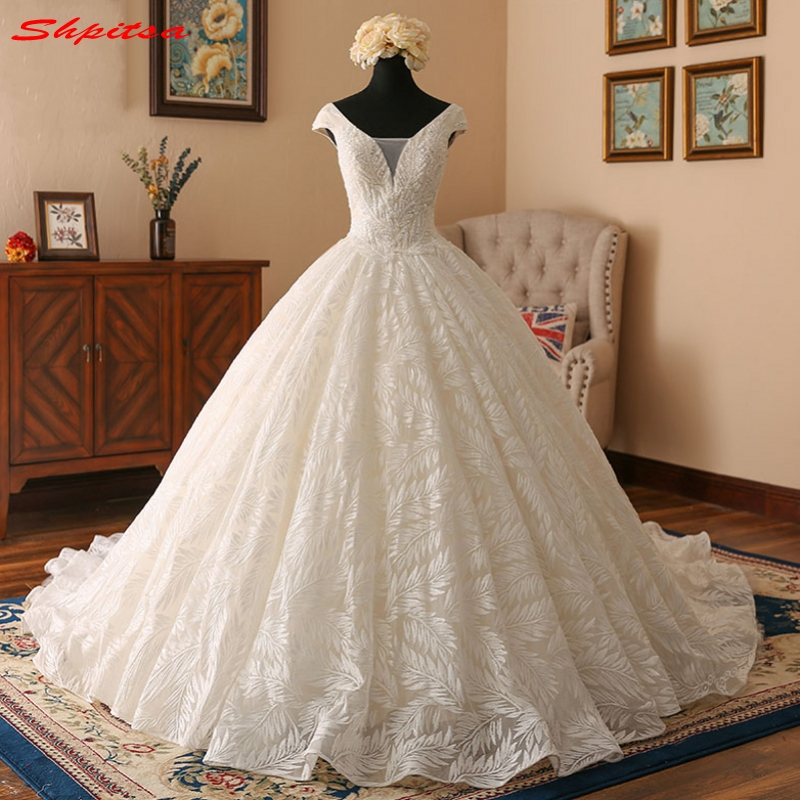 Lace Wedding Dresses Ball Gown Beaded Wedding Gowns Weding