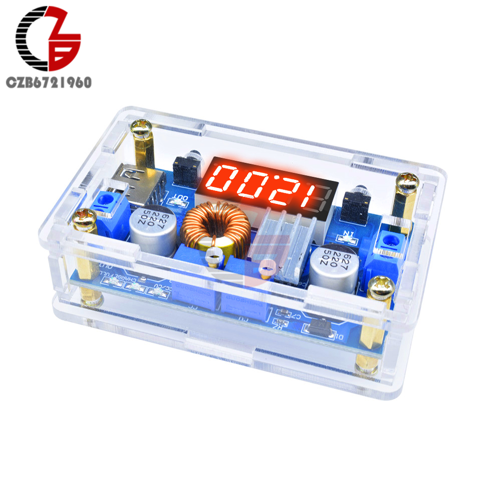 5A 75W DC-DC Step Down Buck Converter LED Digital Voltmeter 5-36V to 1.25-32V CC CV Power Voltage Regulator USB Protective Case5A 75W DC-DC Step Down Buck Converter LED Digital Voltmeter 5-36V to 1.25-32V CC CV Power Voltage Regulator USB Protective Case