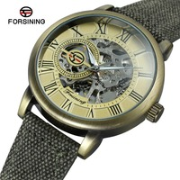Antique Bronze Canvas Strap Hot Model Top Luxury Brand Mechanical Watch Guangzhou Mens Watches Army Sport