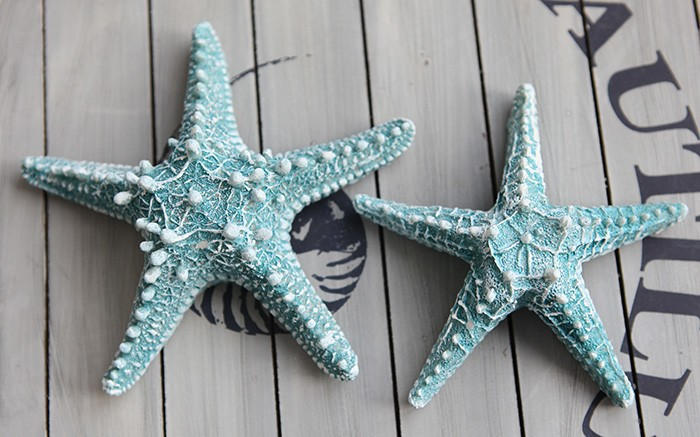 2pcs Lot Resin Starfish Mediterranean Style Decoration Wall