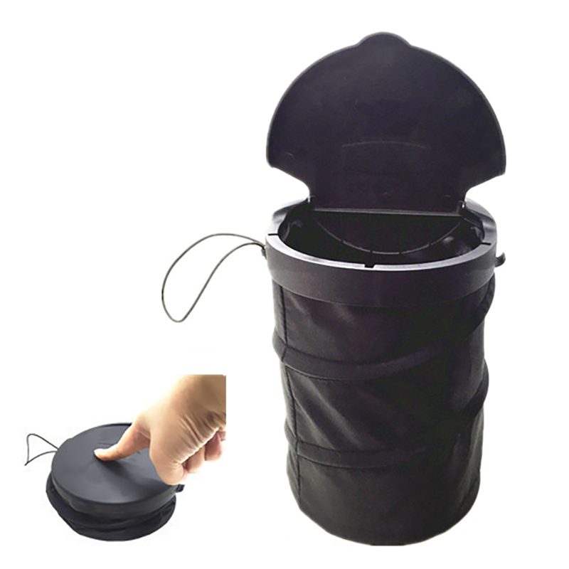 2018 Folding Wastebasket Trash Can Litter Container Car Auto Garbage Bin/Bag Waste Bins Household Cleaning Tools Accessories