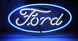 Ford Autos Glass Neon Light Sign